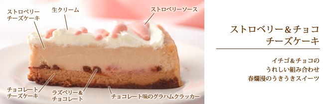 ストロベリー&チョコチーズケーキ