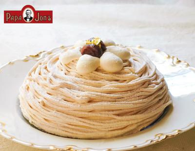 栗のモンブランチーズケーキ