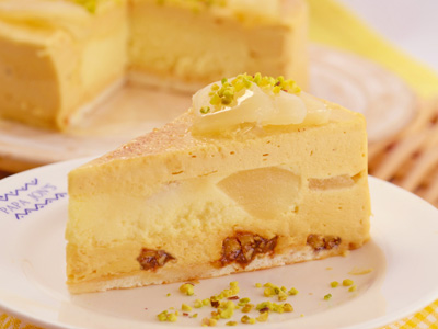 キャラメル洋梨チーズケーキ