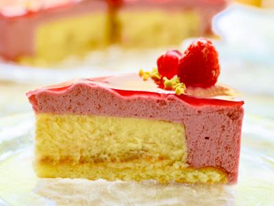 ホワイトチョコ チェリームース チーズケーキ