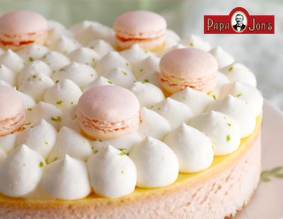 マカロン ストロベリー ライムチーズケーキ