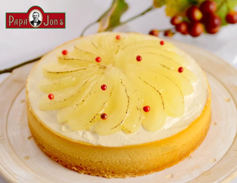 洋梨&キャラメルチーズケーキ